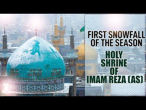 Snowfall lastnight at the Holy Shrine of Imam Reza (as) in Mashhad, Iran | Snowfall | Mashhad