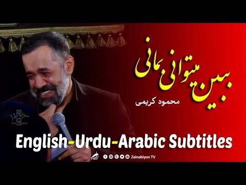 ببین میتوانی بمانی بمان - محمود کریمی | Farsi sub English Urdu Arabic
