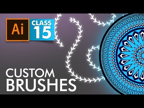 Adobe Illustrator - Custom Brushes - Class 15 - Urdu / Hindi