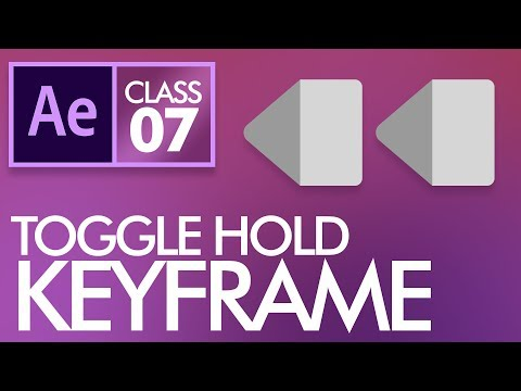 Toggle Hold Keyframes in After Effects Class 7 - اردو /  हिंदी