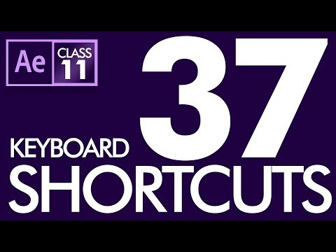 37 Basic Keyboard Shortcuts in After Effects Class 11  - Urdu / Hindi