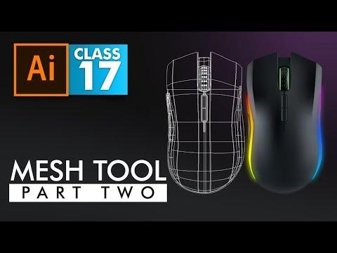 Adobe Illustrator - Mesh Tool Part 2 (Tracing with Mesh)  - Class 17 - Urdu / Hindi
