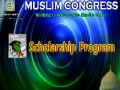 Muslim Congress Projects - Scholarship Program - English