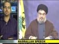 Analysis of Sayyed Nasrallah Speech On The Hariri Tribunal Crossing Red Lines - English