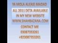 Shahid baltistani 2011 Noha-  So Ja Mere Hussain - Urdu