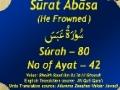 Holy Quran - Surah Abasa, Surah No 80 - Arabic sub English sub Urdu