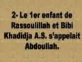 Vrai ou Faux sur Bibi Khadidja ahs - Francais