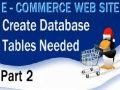 2 E Commerce Website PHP Tutorial MySQL Database and its Tables - English