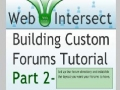 2 Web Intersect Forum Tutorial Begin Layout and Create MySQL Table for Sections - English