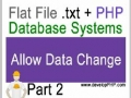 2 Flat File.txt + PHP Database Tutorial - Allow user or client to change data CMS - English
