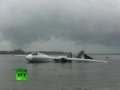 Caught on Video: Burning An-24 plane crash lands in Siberian river - Jul 12, 2011 - All Languages