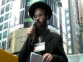 2011 Al-Quds Day Rally Times Square, New York (Rabbi Yoel Loub) - English