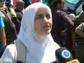 [Quds Day 2011] Protest in Qalandiya, Palestine - Zionist Forces fire Tear gas - English