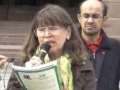 [2011 Al-Quds Rally Toronto] Speech by Sr. Karen from United Church - 28Aug2011 - English