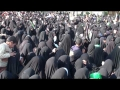 Women Procession on Ashura at Imam Hussain (a.s) Shrine - All Languages