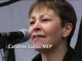 Caroline Lucas MEP - World Against War Demo 15 March 2008