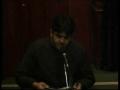 Bibi Sakina - Marsiya by Brother Sibtain on the Wafat of Bibi Sakina(a.s) in Satwa Imam Bargah, Dubai - Urdu