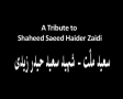 A Tribute to Shaheed Saeed Haider Zaidi - سعیدِ ملّت - Urdu