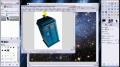 GIMP - Make a spaceship jump to warp speed - English