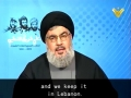 Sayyed Nasrallah - Hezbollah Fully Equipped, Wont Tolerate any israeli Attack - Arabic sub English