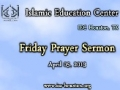 Friday Sermon (5 April 2013) by H.I. Ghulam Hurr Shabbiri at IEC Houston, TX - English