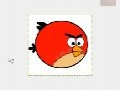 GIMP - Draw Red Angry Birds Cartoon - English