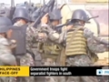 [15 Sept 2013] Fighting resumed between government troops and Muslim fighters in Philipines - English