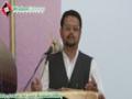 [واں سالانہ ڈویژنل کنونشن34]  Speech: Pro. Zahid Ali Zahidi - 06 October 2013 - Urdu
