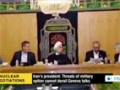 [20 Nov 2013] Rouhani: Threats of military option cannot derail Geneva talks - English