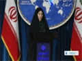 [07 Jan 2014] Iran Foreign Ministry Spokeswoman Weekly Press Conf. (P.1) - English