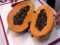 How to clean, cut and eat a papaya! English