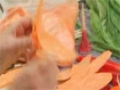 Edible Vegetable Arrangement: Shaping Sweet Potato Flowers - English