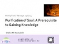 [Weekly Msg] Purification of Soul - A Prerequisite to Gaining Knowledge | Sheikh Ali Nouruddin