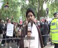 [Al-Quds Day In London 2014] Quds Day Comments by Molanan Hassan Abbas - Ramadan 1435 - Urdu