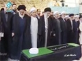 Leader performing funeral prayer for Ayat. Mahdavi Kani - Arabic & Farsi