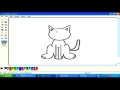 Drawing cat in MS paint English 6