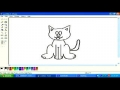 Drawing a cat in MS paint English 7