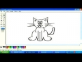 Drawing cat in MS paint English 8
