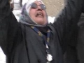 Calgary Protest Against Israel Dec 28 2008-Women Crying-English