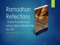 [Supplication For Day 20] Ramadhan Reflections - Divine Providence (Tawfeeq) - Sh. Saleem Bhimji - English
