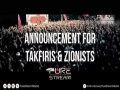 Announcement for Takfiris & Zionists - Farsi sub English