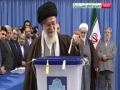 Message of Leader After Casting Vote - Election Day - Farsi