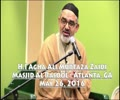[Speech] Few Important Obstacles In Preparation For Imam Zaman AJTF | H.I Agha Ali Murtaza Zaidi - Urdu