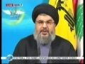 Sayyed Hassan Nasrallah - Speech on Freedom Day - 29 Jan 2009 - English
