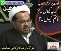 گریہ کیوں ، ماتم کیوں؟ اعتراض کا جواب - علامہ محمد رضاداؤدانی