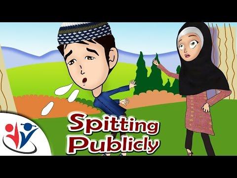 Abdul Bari Muslims Islamic Cartoon for children - Etiquette of Spitting - English