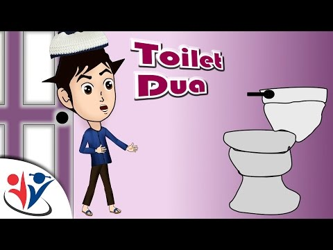 Abdul Bari Muslims Islamic Cartoon for children -When entering into toilet and Dua - English