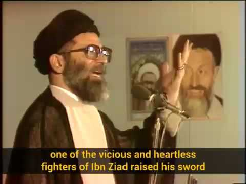 Ayatollah Khamenei narrates the martyrdom of Imam Hussain\\\'s 11 year-old nephew - Farsi sub English