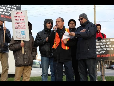 [Noha by Br. Naiyer Rizvi] Toronto Protest at Pakistani Consulate against Shia Killings in Pakistan Nov 2016 - Urdu