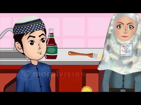 Abdul Bari Muslims Islamic Cartoon for children - Washing hands & forgot Bismillah - English